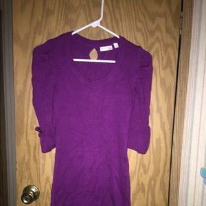 Ladies size S purple sweater dress